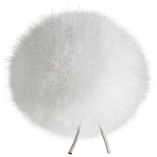 Bubblebee Industries Windbubble Miniature Imitation-Fur Windscreen (Lav Size 1, 28mm, White)