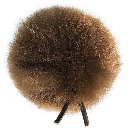 Bubblebee Industries Windbubble Miniature Imitation-Fur Windscreen (Lav Size 2, 35mm, Brown)