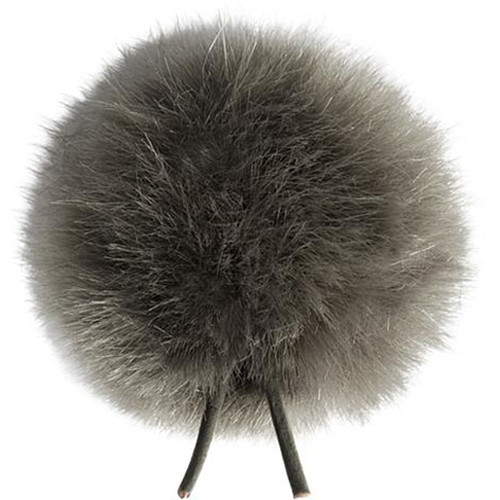 Bubblebee Industries Windbubble Miniature Imitation-Fur Windscreen (Lav Size 1, 28mm, Grey)