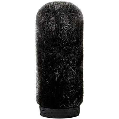 Bubblebee Industries Windkiller Short Fur Slip-On Wind Protector for 23 to 26mm Mics (Extra-Large, Black)