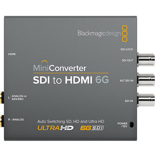 Blackmagic Design BMD-CONVMBSH4K6G Mini Converter SDI/HDMI 6G