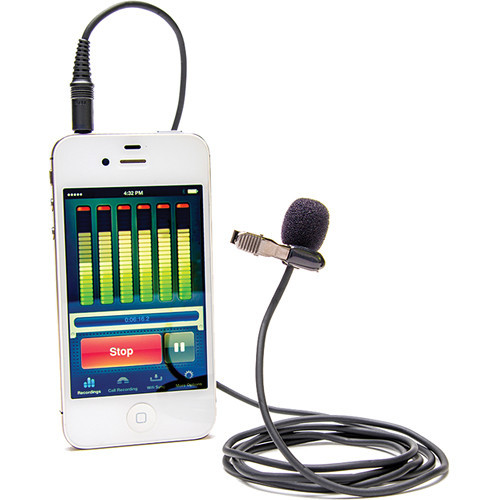 Azden i-Coustics EX-503i Lavalier Microphone For Smartphones And Tablets (Shown with Optional Accessories)