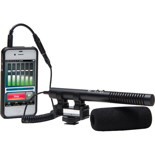 Azden SGM-990+i Shotgun Microphone for Cameras and Mobile Devices (Shown with Optional Accessories)