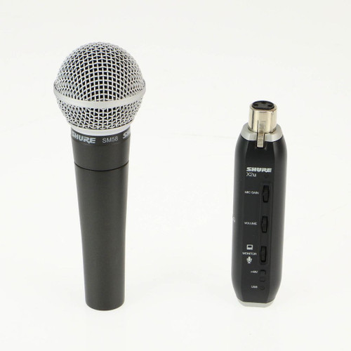 Shure X2u XLR to USB Microphone Signal Adapter & SM58 Microphone Bundle OPEN BOX