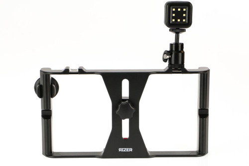 Rizer Smartphone Video Rig Stabilizer with LitraTorch, Bluetooth Remote & Ball Mount