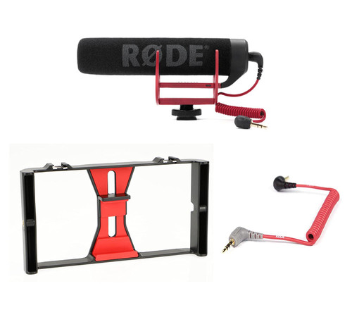 Rizer Smartphone Rig with Rode VideoMic Go and Rode SC7 TRRS Cable