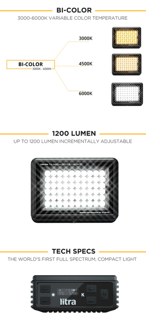 Litra LP1200 LitraPro Bi-Color On-Camera Light