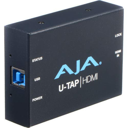 AJA U-TAP USB 3.1 Gen 1 Powered HDMI Capture Device with Rizer Case