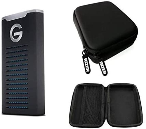 G-Technology 0G06053 1TB G-Drive Mobile SSD with Rizer Portable Hard Drive Protective Case