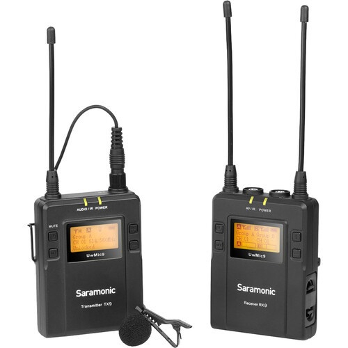 Saramonic UWMIC9TX9RX9 UHF Wireless Microphone Kit