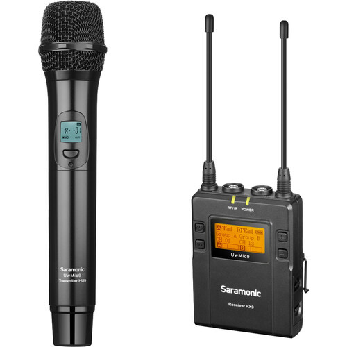 Saramonic UwMic9RX9HU9 UHF Wireless Microphone Kit