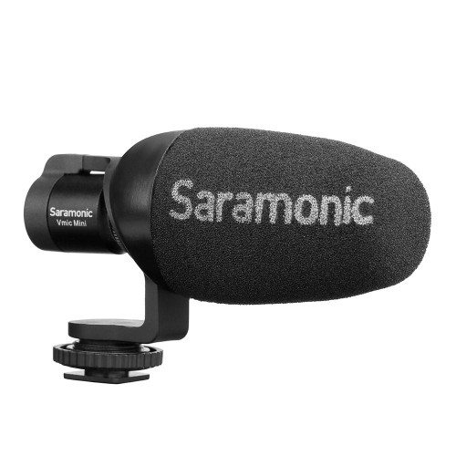 Saramonic VMICMINI Vmic Mini Shotgun Microphone for DSLR, Mirrorless and Video Cameras or Smartphones and Tablets