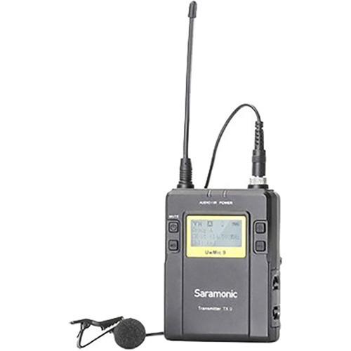 Saramonic UwMic9TX9 96-Channel Digital UHF Wireless Bodypack Transmitter with Lavalier Mic