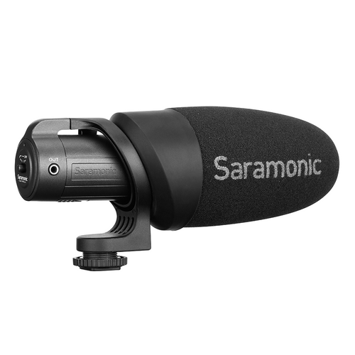 Saramonic CAMMIC+ CamMic+ Lightweight Battery-Powered On-Camera Microphone for DSLR, Mirrorless and Video Cameras or Smartphones and Tablets
