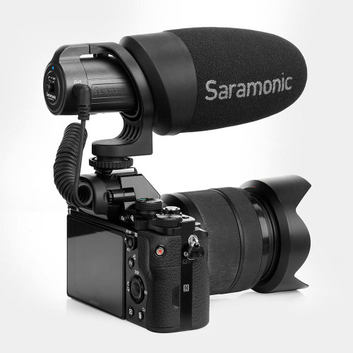 Saramonic Lightweight Battery-Powered On-Camera Microphone