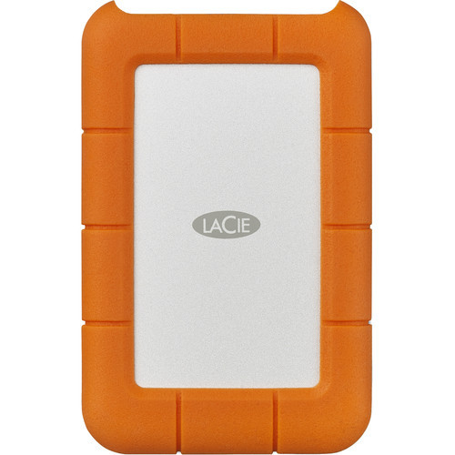 LaCie 2TB USB 3.1 Gen 1 Type-C Rugged Secure Portable Hard Drive