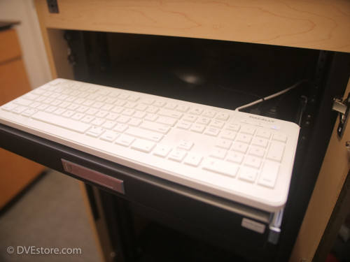 Sliding keyboard and mouse tray