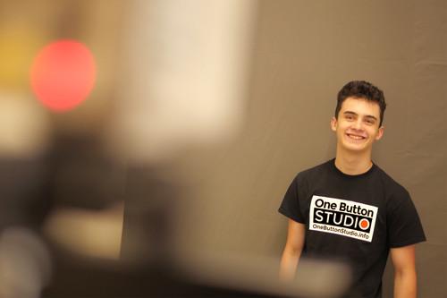 One Button Studio Presenting to camera