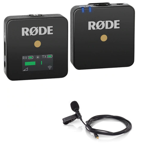 RODE Wireless GO Compact Wireless Microphone System (2.4 GHz) with RODE Lavalier Microphone
