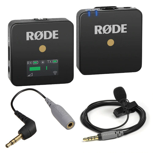 RODE Wireless GO Compact Wireless Microphone System (2.4 GHz) with RODE SmartLav+ and RODE SC3