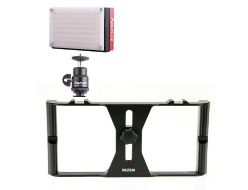 Aputure LED Mini Light with Rizer Smartphone Rig