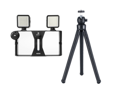Rizer Smartphone Rig, LED Lights, Tripod, and Remote Shutter