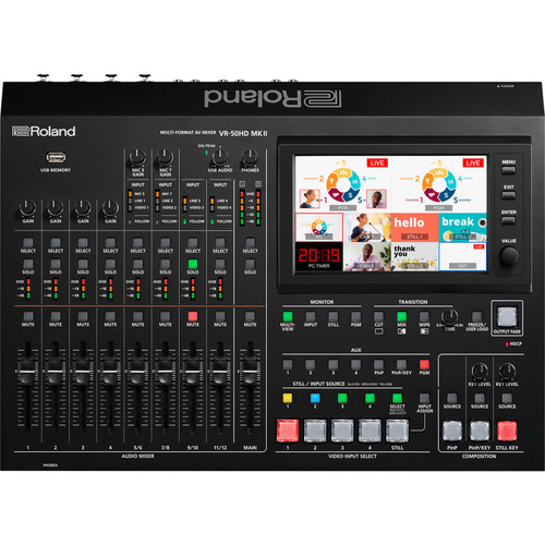 Roland VR-50HD MK II Multi-Format AV Mixer & USB Streaming