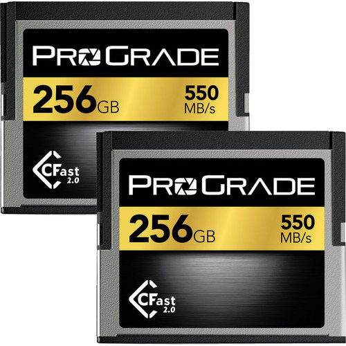 Prograde 256GB CFast 2.0 Memory Card  2 Pack