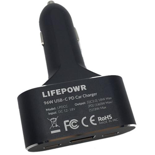 Lifepowr LPDCC Triple Port 96W USB Laptop Car Charger