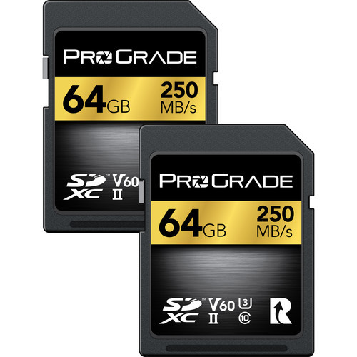 Prograde 64GB SDXC UHS-II Memory Card 2 Pack - 60