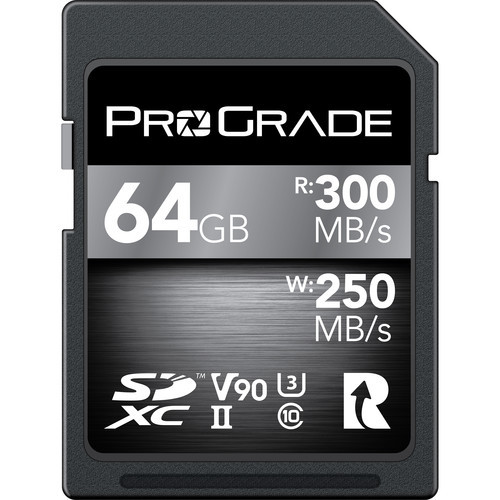 Prograde 64GB SDXC UHS-II Memory Card - 90