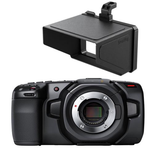 BMD Pocket Cinema Camera 4K with SmallRig Sun Hood