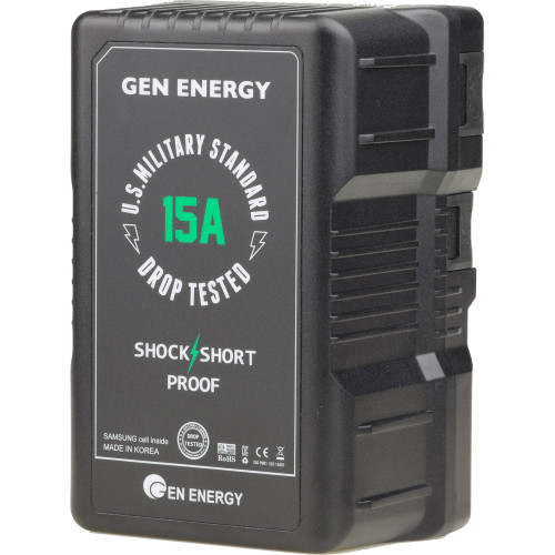 GEN ENERGY G-B100 14.4V, 290Wh Li-Ion V-Mount Battery (15A)