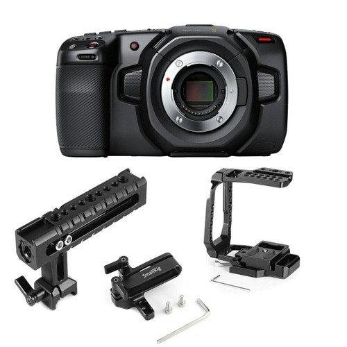 BMD Pocket Cinema Camera 4K with Half Cage, Handle & Mount