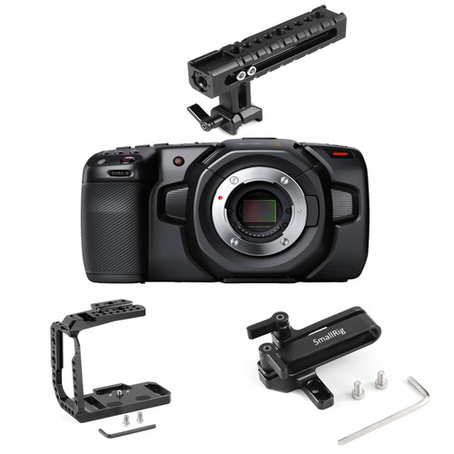 Blackmagic Design 4K Camera with SmallRig Half-Cage Kit 3