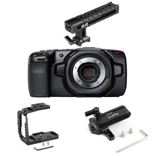 Blackmagic Design 4K Camera with SmallRig Half-Cage Kit 3