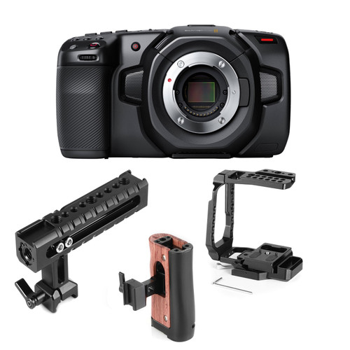 Blackmagic Design 4K Camera with SmallRig Half-Cage Kit 4