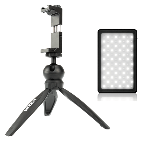 Buy the Rizer Magnetic LED Light with Mini Tripod & Smartphone Mount only at DVEStore!