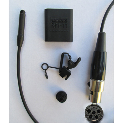 Sanken COS-11D Omni Lavalier Mic, Normal Sens, TA5, Black