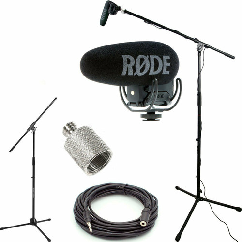 RODE VideoMic Pro+ w/ Rycote Studio Boom Kit VMPR+, Stand, Adapter, Cable USED