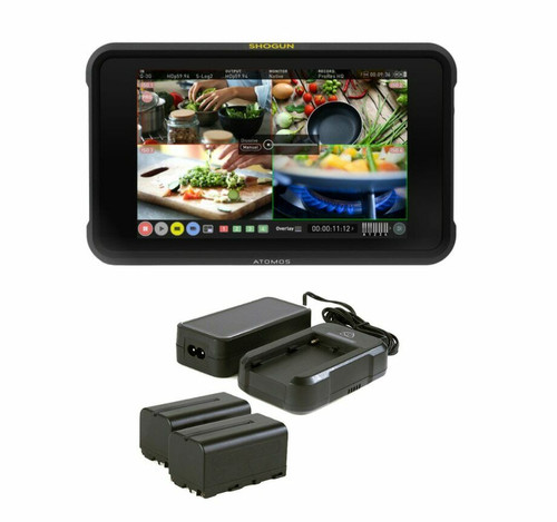 Atomos Shogun 7 Monitor-Recorder with Power Kit Bundle