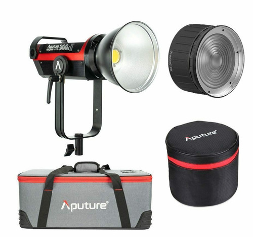 Aputure LS C300d II Gold Mount Kit with Aputure Fresnel 2X