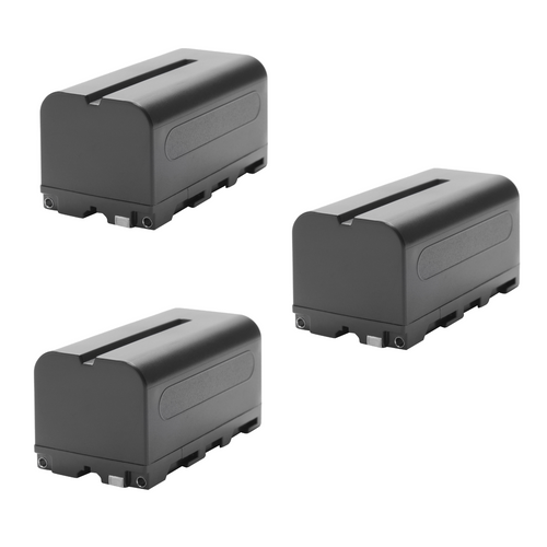 Generic NP-F750 Lithium-Ion Battery 3-Pack 7.2V-5200mAh USED