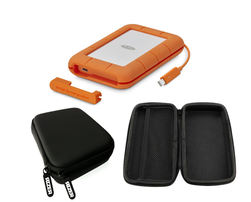 LaCie 5TB Rugged Mobile Hard Drive with FREE Rizer Case
