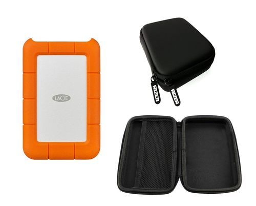 LaCie 4TB Rugged Hard Drive with Rizer Hard Storage Case