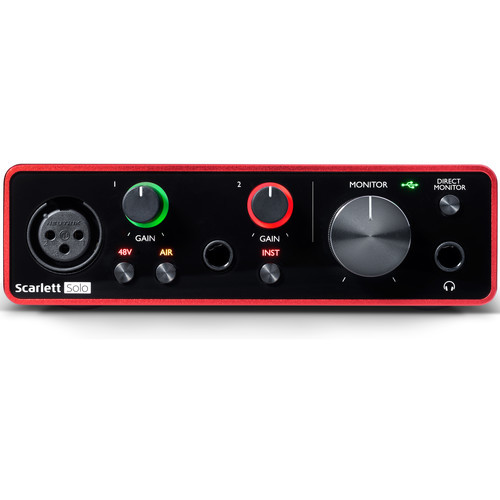 Focusrite Scarlett Solo 2x2 USB Audio Interface (3rd Gen)