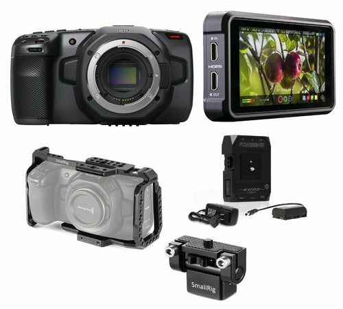BMD Camera 6K with Ninja V, CoreSWX Battery, Cage, & Mount