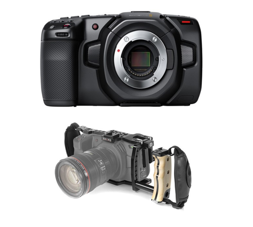Blackmagic Design Pocket Cinema Camera 4K with Shape Cage & Handle