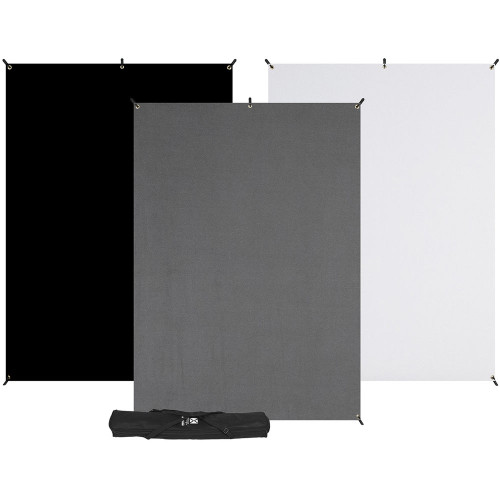 Westcott X-Drop 3-Pack Backdrop Kit (5 x 7')