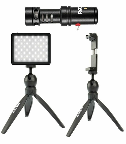 Rizer LED Light Kit with Rode Videomic ME-L and Phone Mount